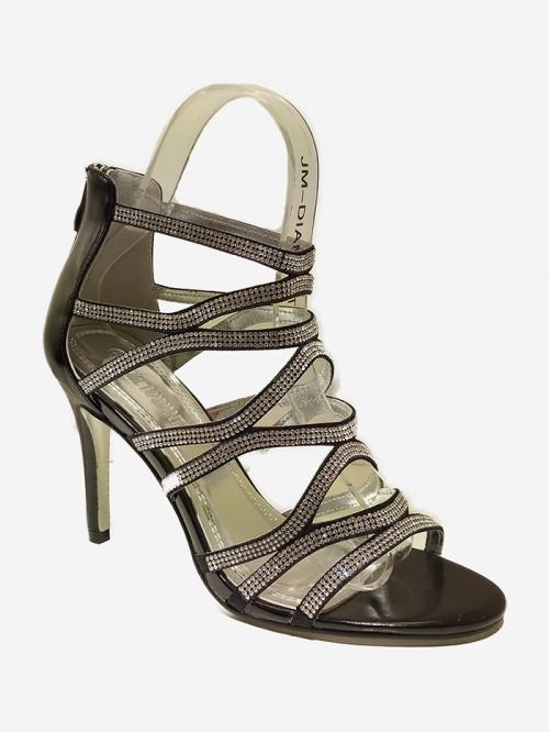 Magnifique chaussure de soirée avec strass talon environ 9 cm